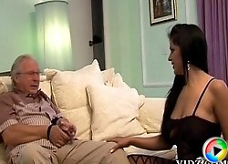 Matured sucker, Cory Everson gives this old guy a luscious mouthjob!